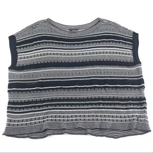 Eileen Fisher Dolman Sleeve Boxy Striped Sweater